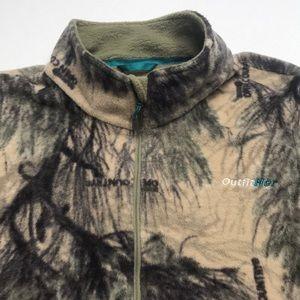 CABELA'S Women's 3XL CAMO Fleece 1/4 Zip Shirt